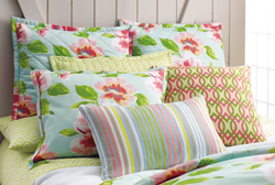 Peony & Prism Bedding with Edie Stripe & Dabney Pillows