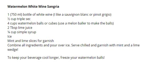 Watermelon White Wine Sangria